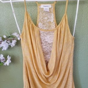 Beautiful Golden Top With Ivory lace Medium